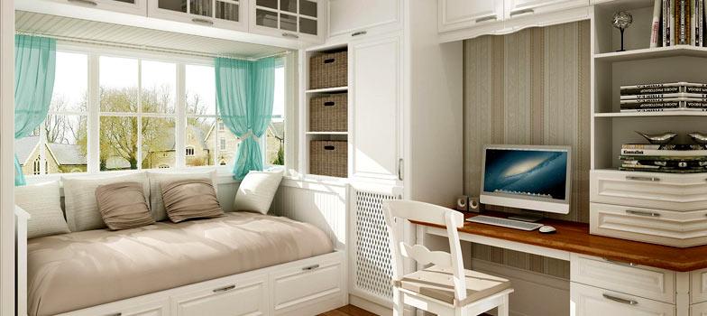 欧式卧室+书房整体定制