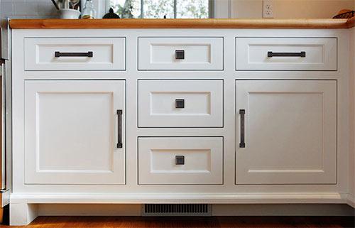 不同样式的橱柜拉手,搭配不同风格的橱柜