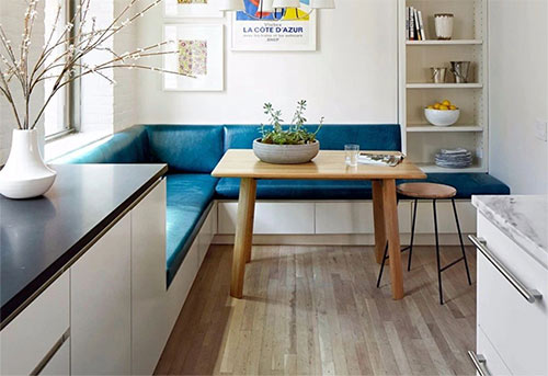 实用+美观的客餐厅卡座设计,让角落充满情调