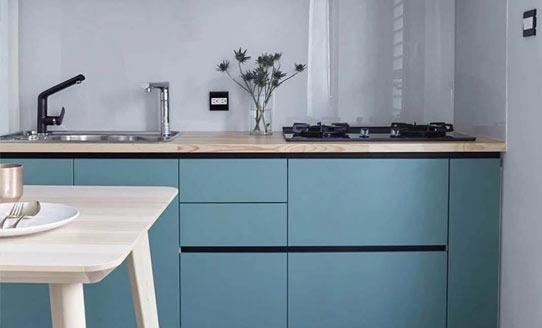蓝色经典厨房橱柜