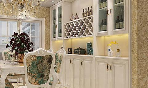 实用与美观的餐厅酒柜,能彰显出主人优雅的格调