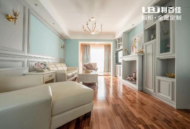 120平简约美式风格装修,全屋定制的柜子真漂亮