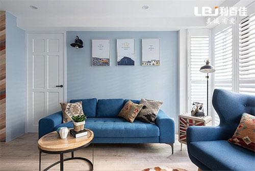 120㎡现代小资风全屋定制,蓝色利用得很舒适!