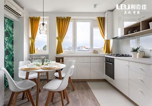 厨房橱柜这样装好看又实用,再也不担心难清洁了!