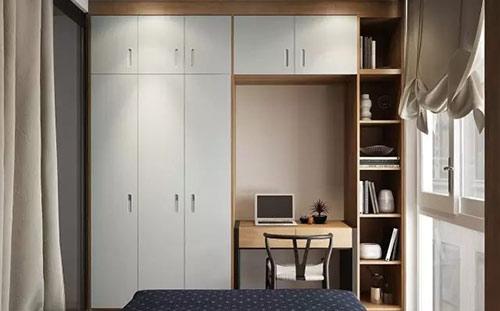 卧室多功能设计,实现收纳、办公两不误